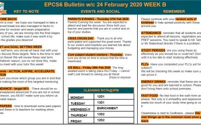 EPCS6 Bulletin w/b 24.02.2020