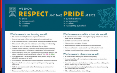 #BackToSchool2020 – Respect and Pride