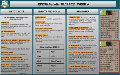 W/c 28.09.2020 Sixth Form Bulletin