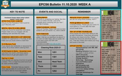 W/c 11.10.2020 Sixth Form Bulletin
