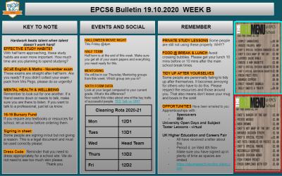 W/c 19.10.2020 Sixth Form Bulletin Week B