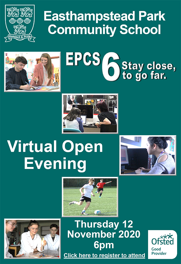 6th Form open evening poster, Easthampstead Park