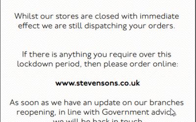 School Uniform update from Stevensons