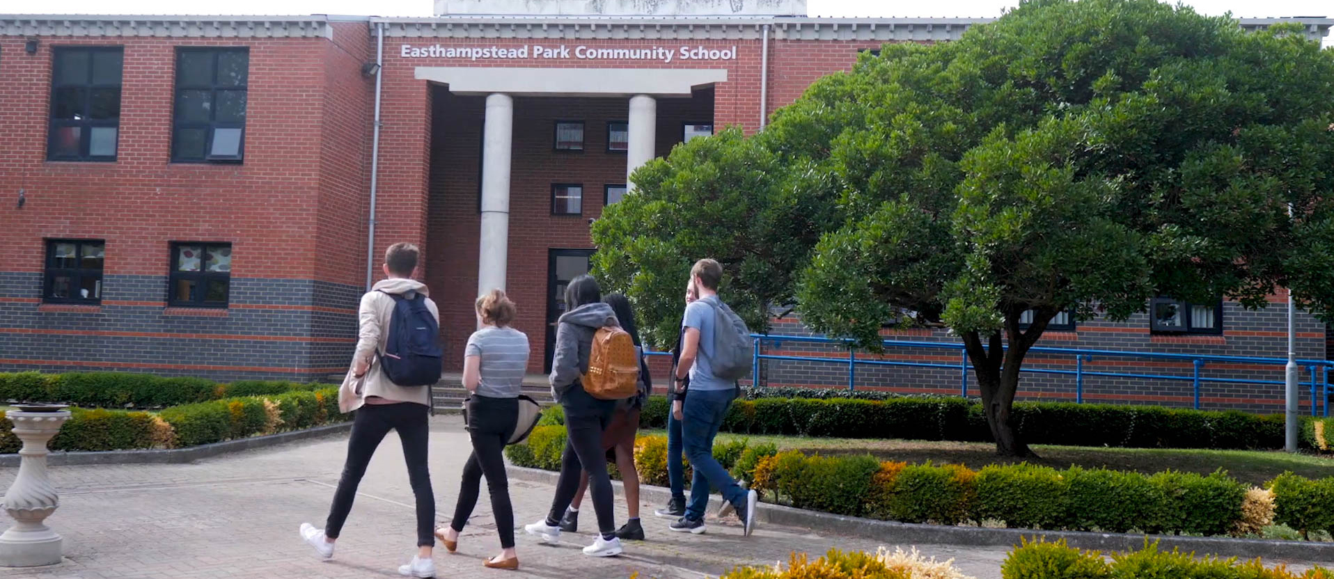 6th Form pupils entering the school