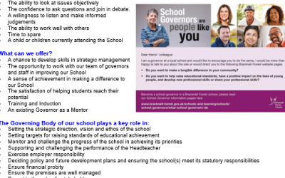 We are recruiting a Parent Governor!
