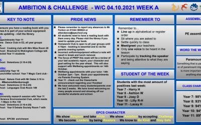 W/c 04.10.2021 Tutor Slide Y7-Y11 Week A