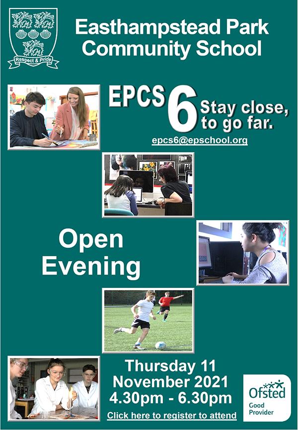 Open Evening Poster 2021